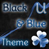 GO Launcher Theme Black & Blue