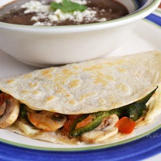 Mushroom Quesadillas.