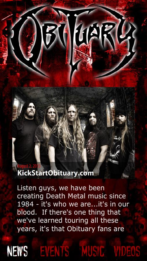 Obituary- screenshot