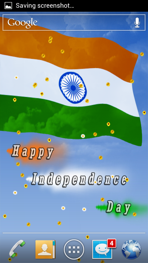 Salute To Flag Of India HD LWP- screenshot