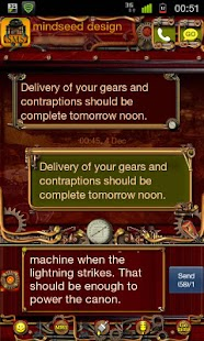 Steampunk GO SMS Theme - screenshot thumbnail