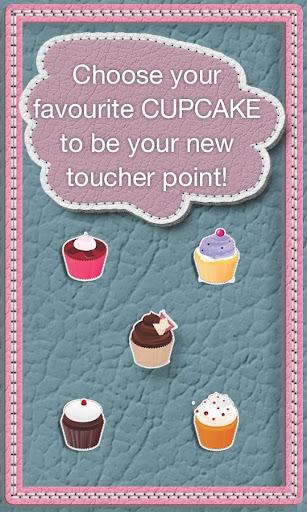 粉红色的蛋糕触摸者点