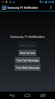 Screenshot of Notifications for Samsung TVs