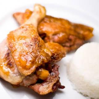 Roast Duck With Mango Riesling Glaze.