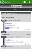 Screenshot of Transit London UK by NAVITIME