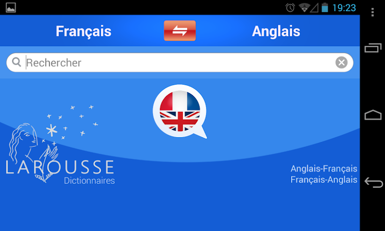 English-French dictionary Screenshot