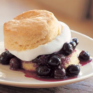 Cornmeal Shortcakes with Fresh Blueberries and Sweet Cream