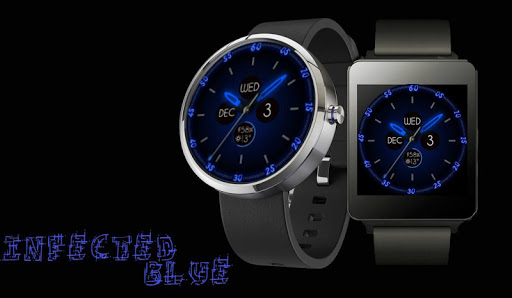 Infected Blue WearFace Moto360