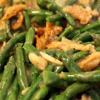 Vegan Green Bean Casserole.