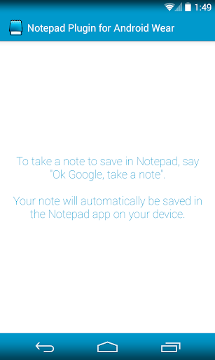 Notepad Plugin for AndroidWear