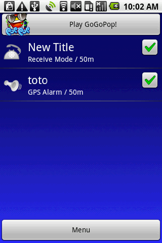 GPS Alarm+ - screenshot