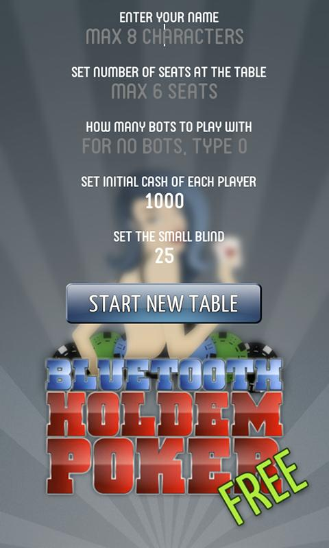 Bluetooth Holdem Poker FREE - screenshot