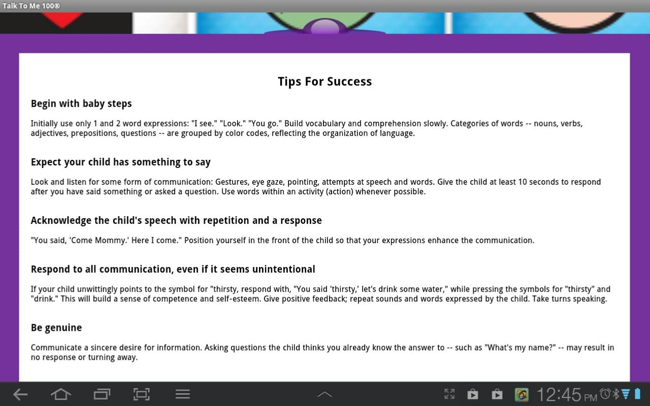 Talk To Me 100® Lite - Autism- screenshot