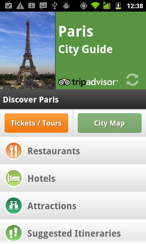 Paris City Guide - screenshot