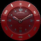 Clock Widget Red Star