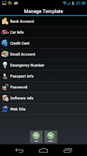 Password Safe Lite - screenshot thumbnail