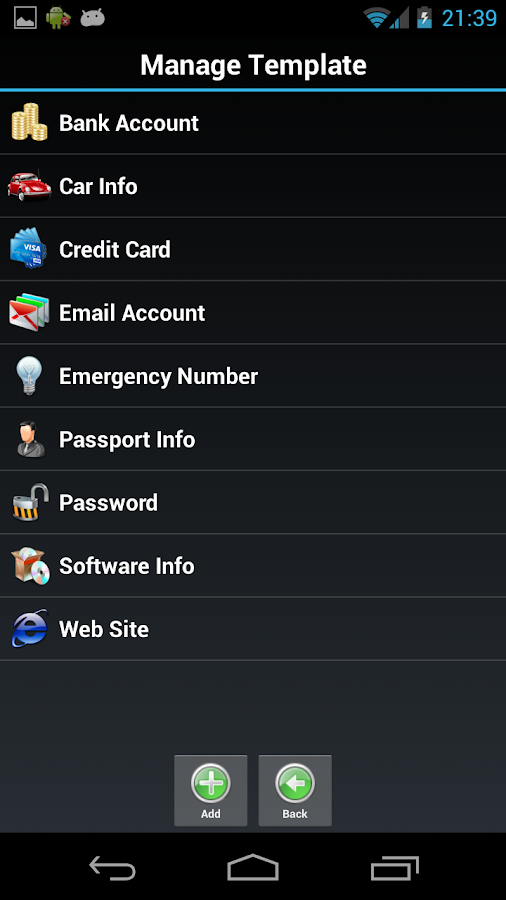 Password Safe Lite - screenshot