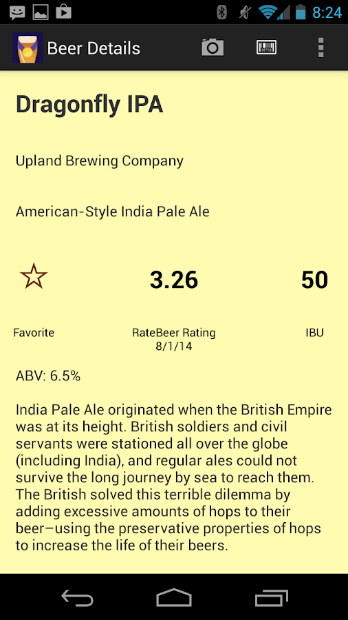Picky Pint - Scan Beer Menus- screenshot