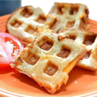Waffle Iron Grilled Cheese.