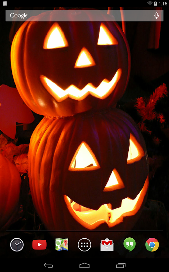 Jack-O-Lanterns Live Wallpaper - screenshot
