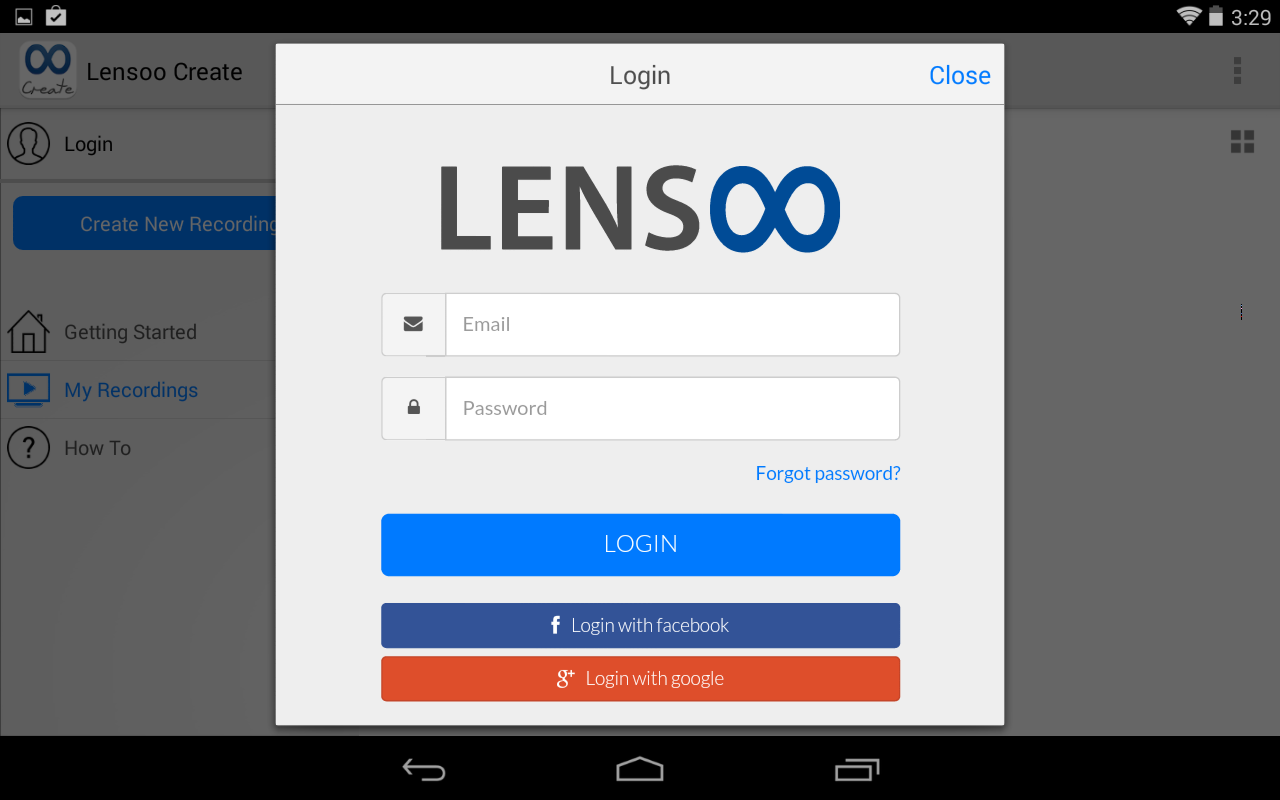 Lensoo Create: screenshot