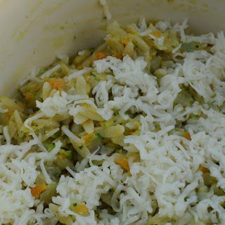 Sauteed Vegetable Orzo with Fontina