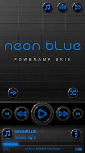 Poweramp skin Neon Blue