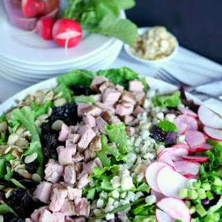 (Giveaway) Pork Crunch Salad with Strawberry Poppyseed Dressing