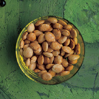 Spiced Marcona Almonds.