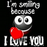 I love you black smile icon