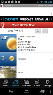 40/29 News - news, weather - screenshot thumbnail