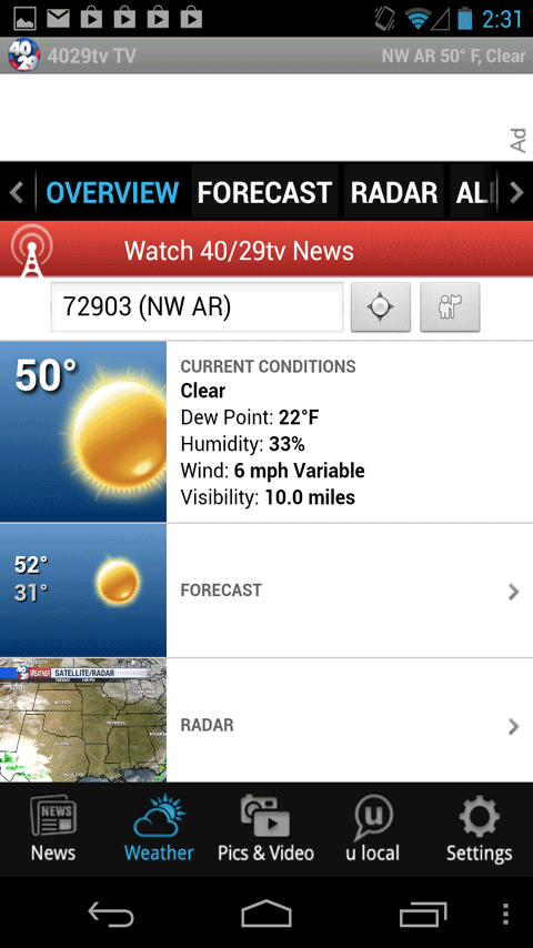 40/29 News and Weather - screenshot