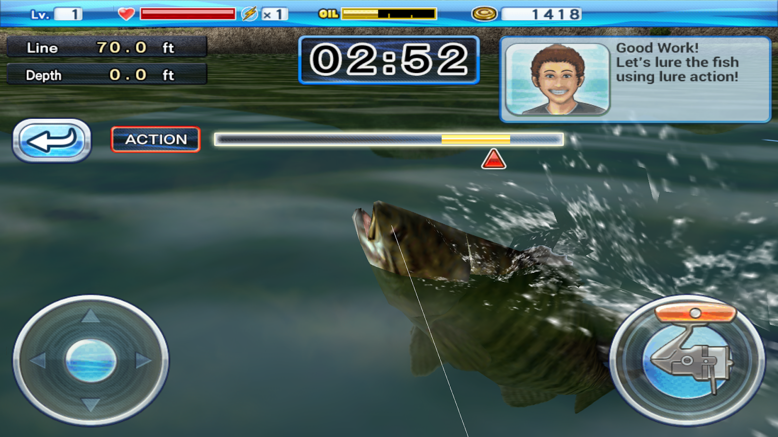Bass 39 n 39 guide lure fishing screenshot for Bass fishing apps