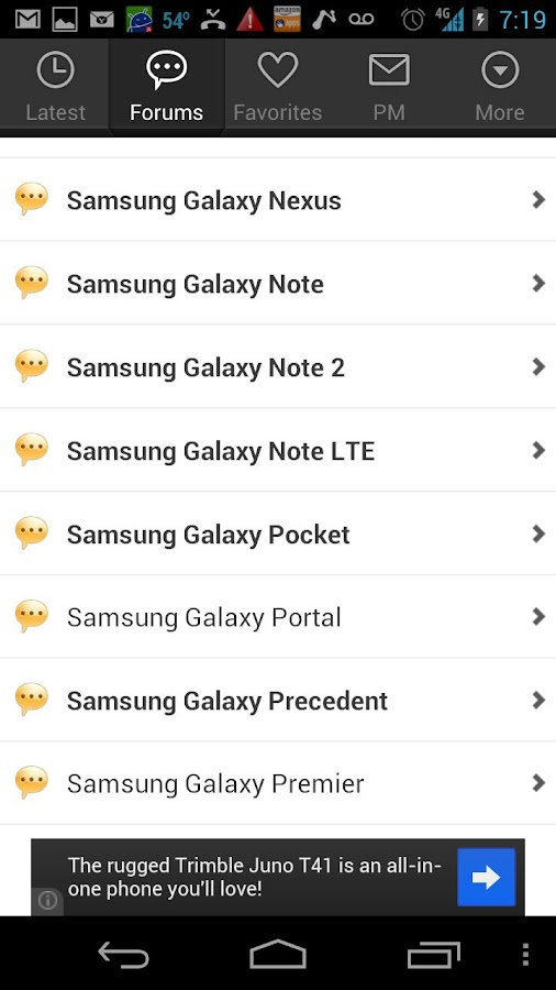 Android Forums - screenshot