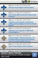 Screenshot of New Orleans Sports Widget