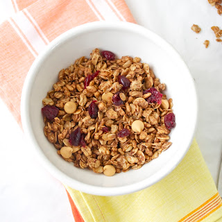 Double Peanut Butter Granola with Cranberries