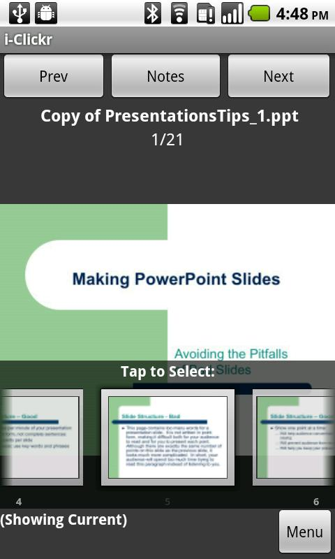 i-Clickr PowerPoint Remote- screenshot