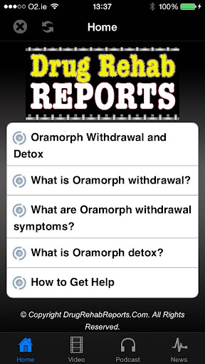 Oramorph Withdrawal Detox