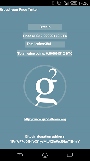Groestlcoin GRS price ticker