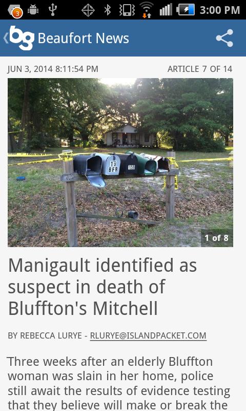 Beaufort Gazette - mobile news - screenshot