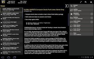 Screenshot of IFX Tablet