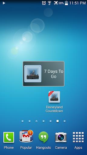 Countdown for Disneyland