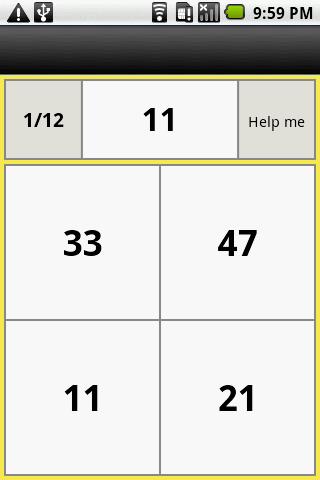 48 numbers random memory- screenshot