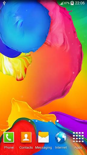 Galaxy S5 Paint 動態桌布
