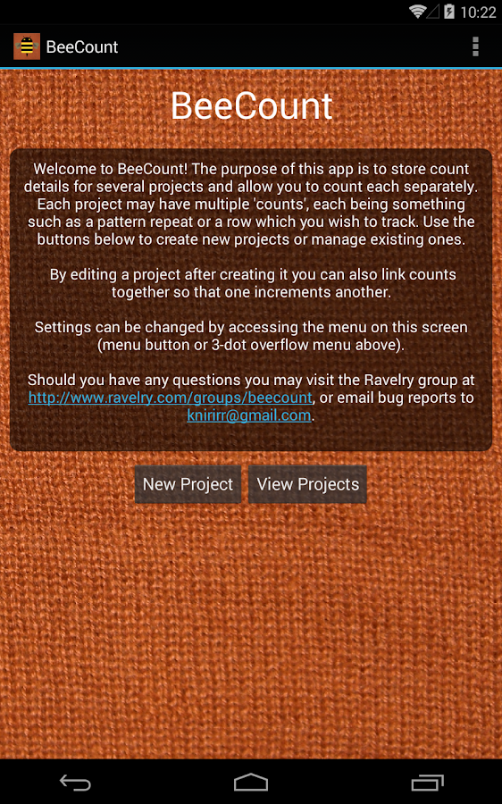 BeeCount Knitting Counter- screenshot