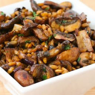 Farro with Mushrooms, Balsamic Vinegar, and Thyme.