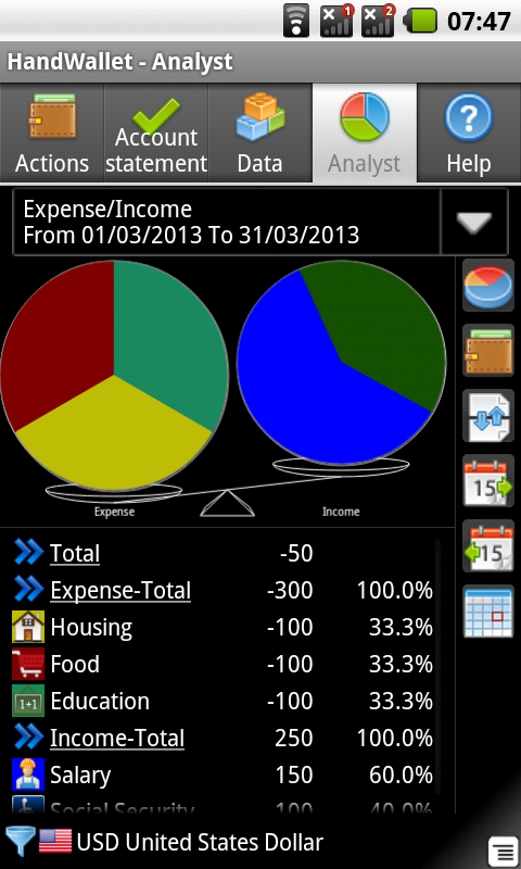 Accounting Widget- screenshot