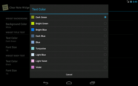 Clear Note Widget Sticky Notes screenshot 9