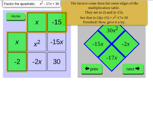 Factor Quadratics