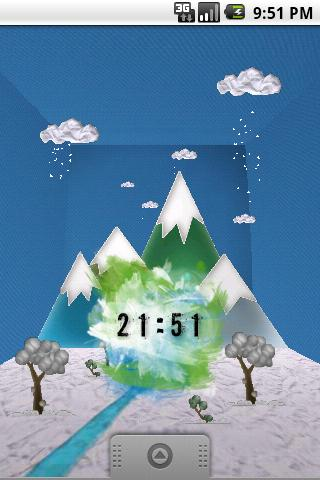 Watercolor Clock - screenshot